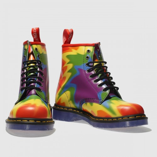 Yellow & Purple 1460 Pride Boots