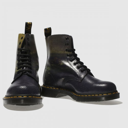 Black & Green Fisherman 1460 Pascal Boots