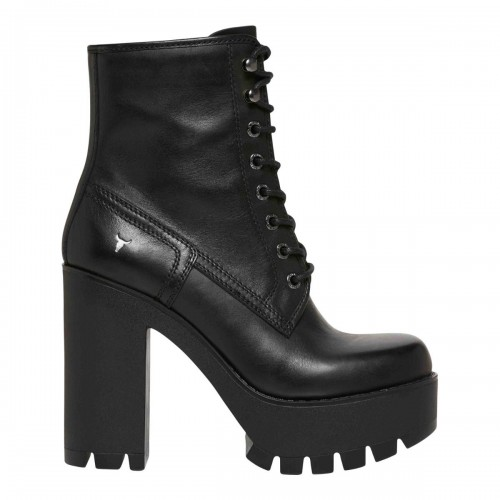 ELINE BLACK LEATHER