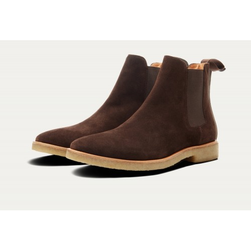HOUSTON SUEDE CHELSEA BOOT Brown