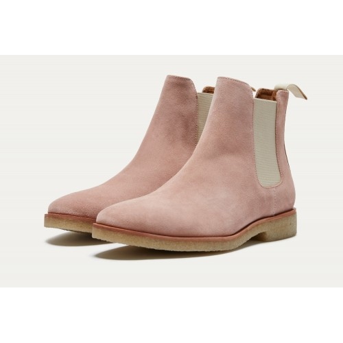 HOUSTON SUEDE CHELSEA BOOT Dusty Pink