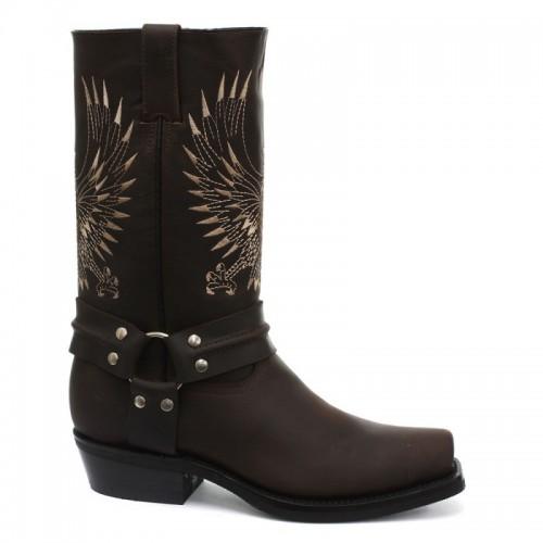 Grinders - Bald Eagle - Western Cowboy Boot - Brown