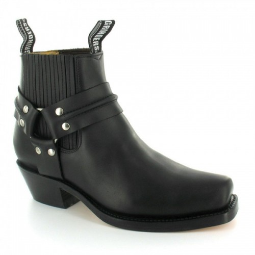 Grinders - Renegade Lo Boot - Black - Rubber Sole