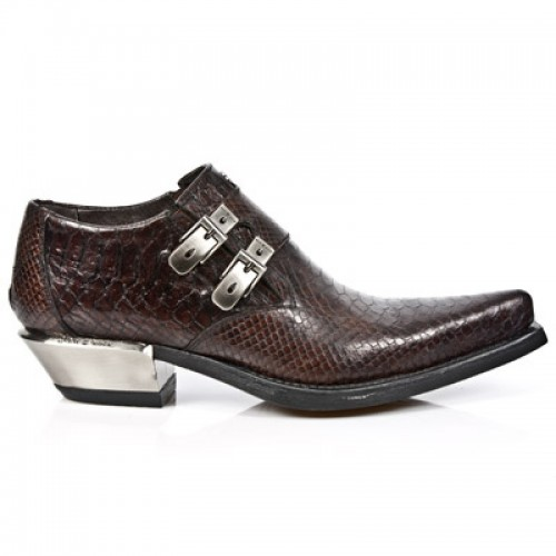New Rock - M.7934-S4 - Faux Snakeskin - Cowboy - Shoes