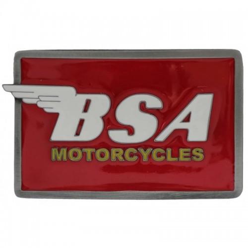 Belt Buckle- BSA Oblong Red/White