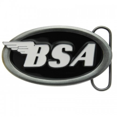 Belt Buckle- BSA Oval Logo Black