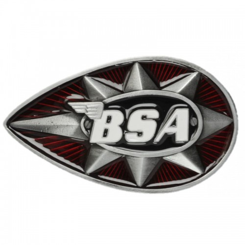 Belt Buckle- BSA Teardrop Star Red/Black
