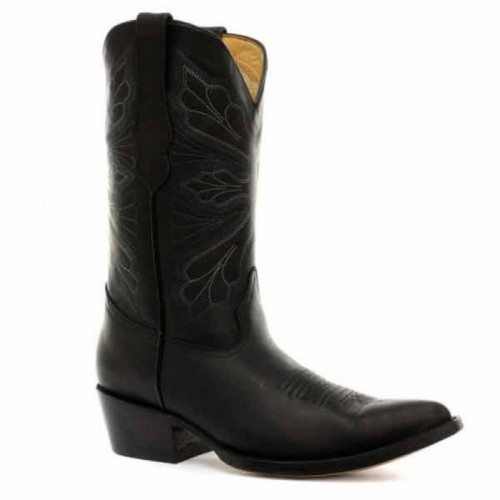 Grinders - Dallas - Cowgirl Boot - Black