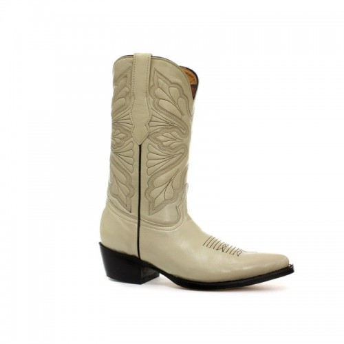 Grinders - Dallas - Cowgirl Boot - Cream