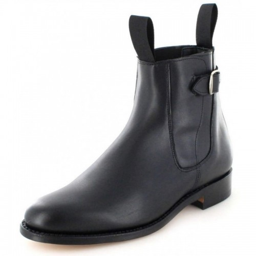 El Estribo - 1690 Box Black Ankle Boots