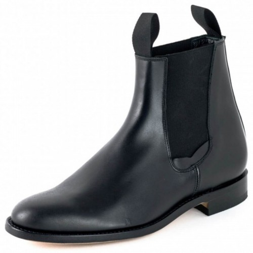 El Estribo - 1691 Box Black Ankle Boots