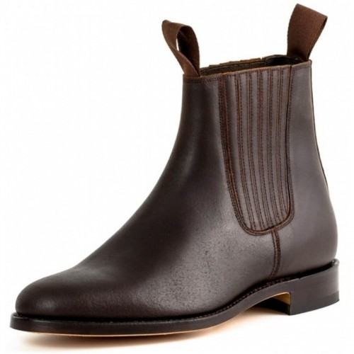 El Estribo - 1692 Serraje Brown Ankle Boots