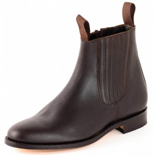 El Estribo - 1694 Serraje Brown Ankle Boots