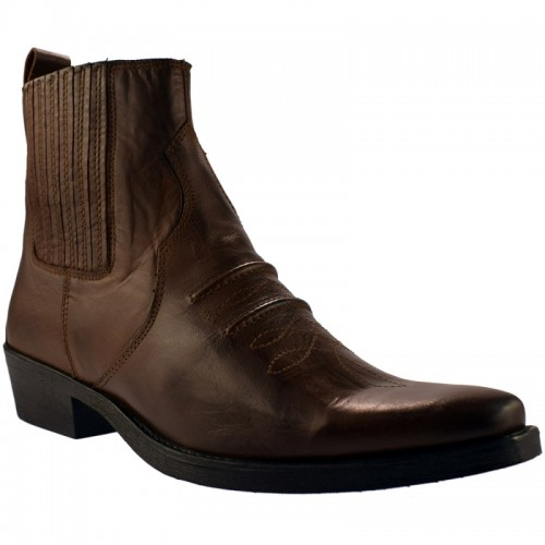 Gringos - Gusset Western Ankle Men's Boot Brown