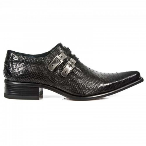 New Rock - M.2246-S21 Faux Snakeskin Shoes