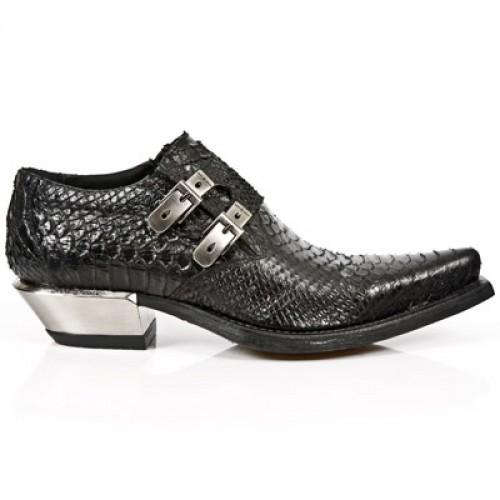 New Rock - M.7934-S2 - Faux Snakeskin - Cowboy - Shoes