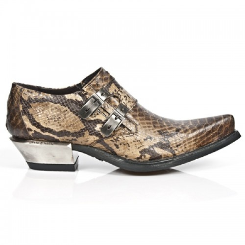 New Rock - M.7934-S5 - Faux Snakeskin - Cowboy - Shoes