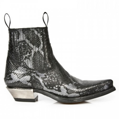 New Rock - M.7953-C5 - Faux Snakeskin - Ankle Boots