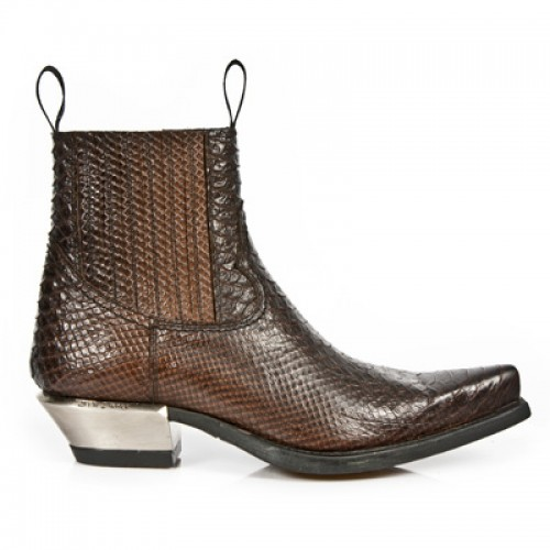 New Rock - M.7953-S3 - Faux Snakeskin - Ankle - Boots