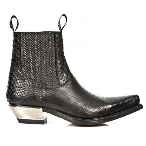 New Rock - M.7953-S4 - Faux Snakeskin - Ankle - Boots