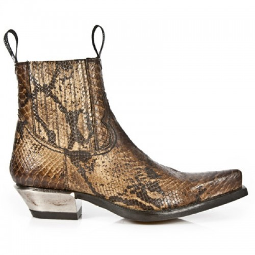 New Rock - M.7953-S7 - Faux Snakeskin Ankle Boots