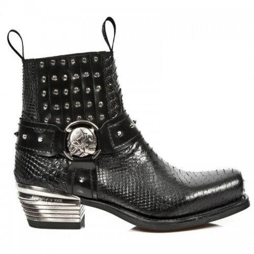 New Rock - M.7959-S2 - Faux Snakeskin Ankle Boots