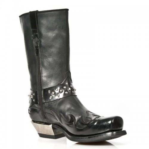 New Rock - M.7964-S1 - Cowboy - Biker - Boots