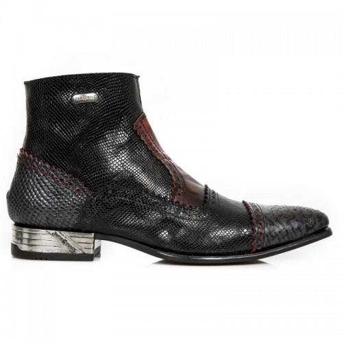 New Rock - M.NW133-S7 - Piton Faux Snakeskin Cowboy Boots