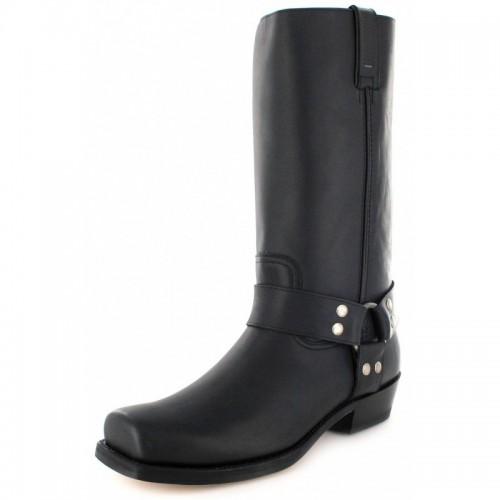 Mayura 001 Cowboy Biker Boot Black