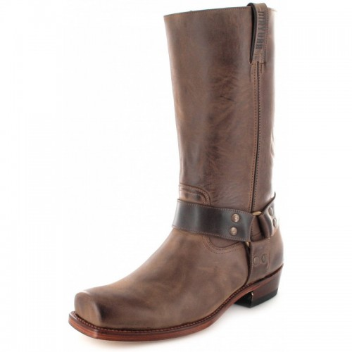 Mayura 001 Cowboy Biker Boot Brown