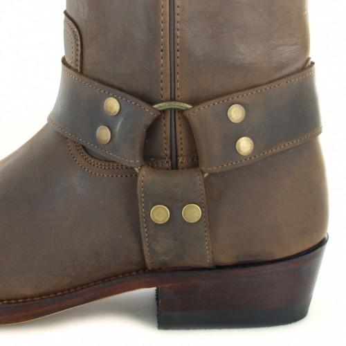 Mayura 001 Cowboy Biker Boot Brown