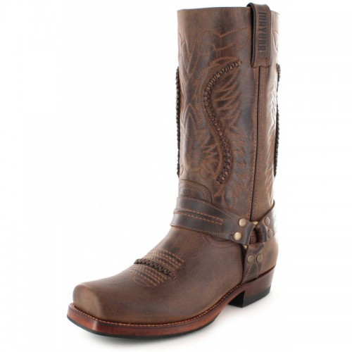 Mayura 002 Cowboy Biker Boot Brown