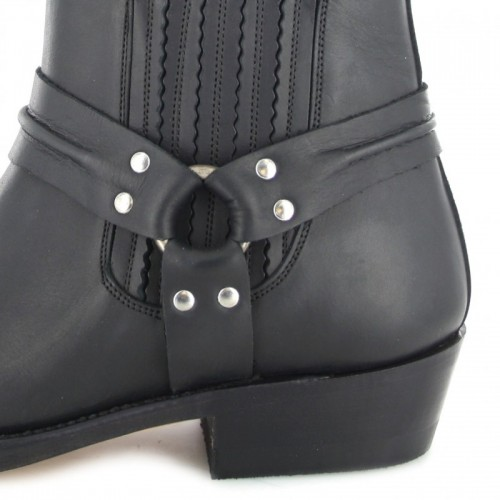 Mayura 004 Ankle Harness Boot Black