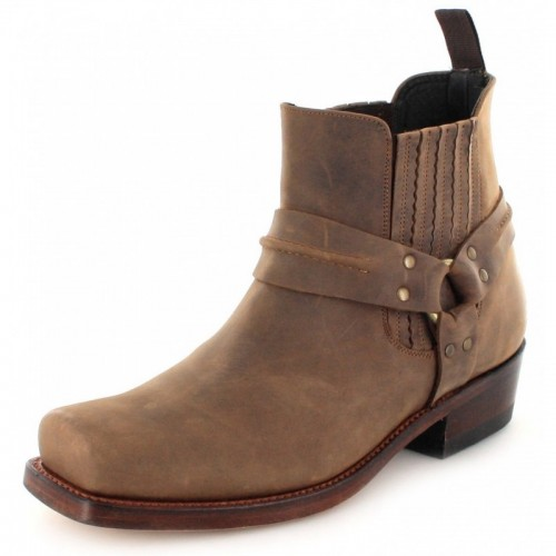 Mayura 004 Ankle Harness Boot Brown