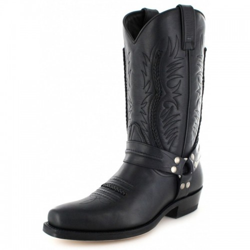 Mayura 007 Cowboy Biker Boot Black