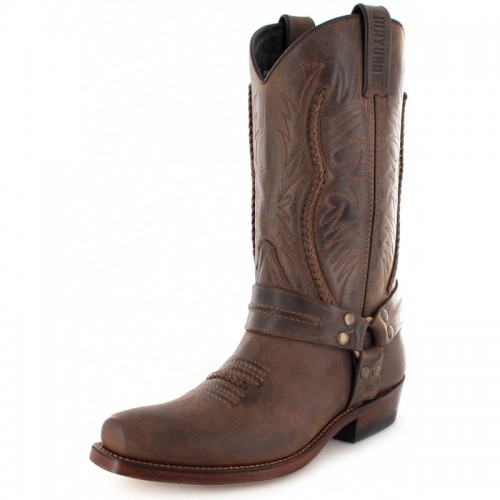 Mayura 007 Cowboy Biker Boot Brown