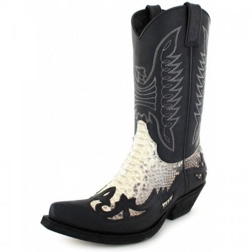 Mayura 011 Cowboy Boot Leather Genuine Snakeskin