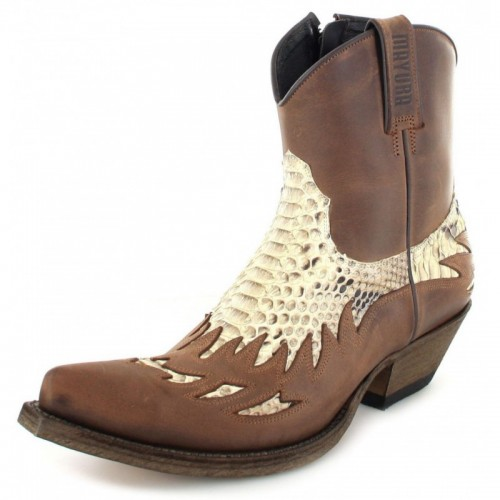Mayura 012 Ankle Cowboy Boot Leather Genuine Snakeskin