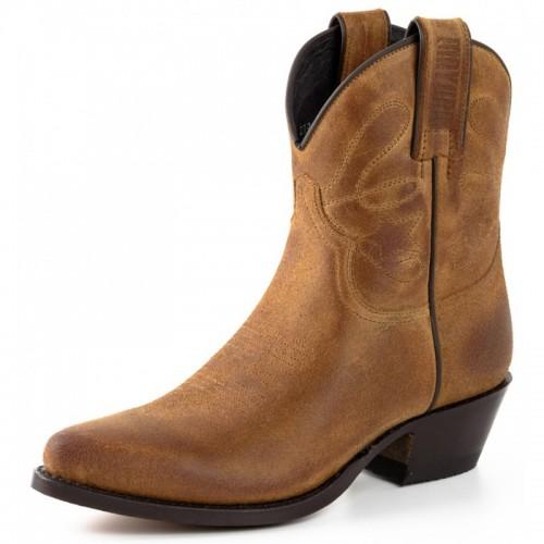 Mayura 2374 Serraprim Whisky Ladies Cowboy Ankle Boots