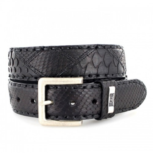Mayura 220 Python Belt Black