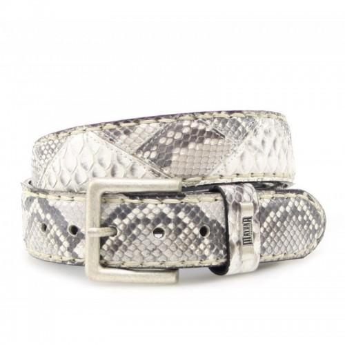 Mayura 222 Python Belt White