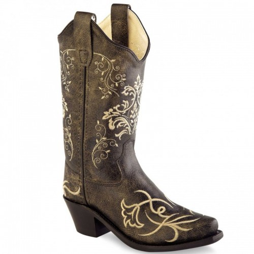Old West - Youth Cowboy Boots - CF8222Y-D