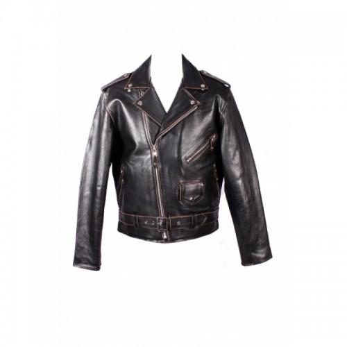 Leather Jacket- Brando Black