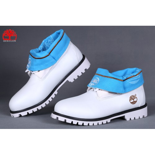 timberland roll-top men white blue,low cost timberland boots